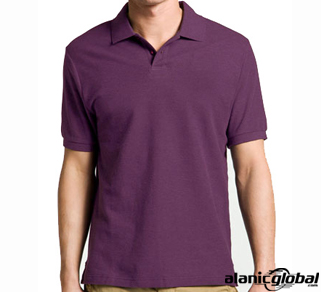 METRO APPEAL PURPLE MEN'S POLO T-SHIRT