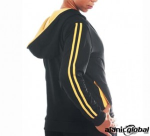 BLACK AND YELLOW FITNESS HOODIE