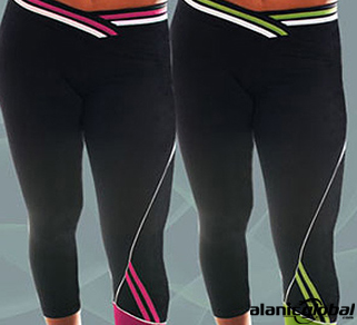BLACK CROPPED FITNESS TIGHTS