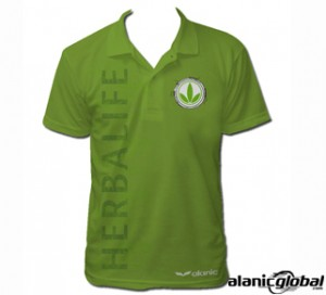 NATURE'S PET GREEN HERBALIFE POLO T SHIRT