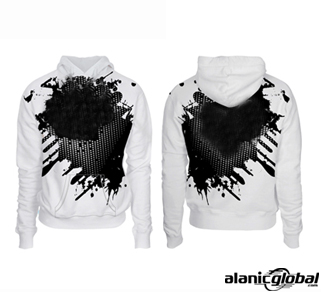 TERRIFIC WHITE SUBLIMATED HOODIE