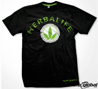 SQUEAKY CLEAN BLACK HERBALIFE ROUND NECK T SHIRT