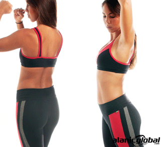 BLACK AND RED FITNESS WEAR