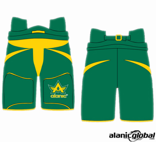 GREEN ICE HOCKEY SHORTS