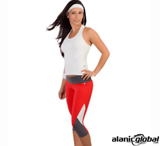 WHITE AND RED RUNNING APPAREL