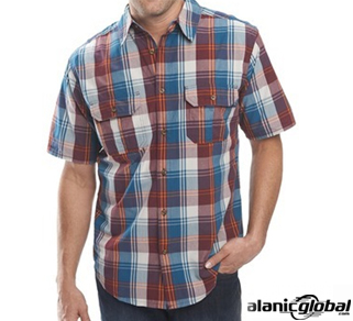 Half Sleeve Multi Hued Flannel Shirt