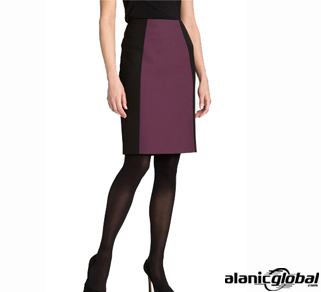 Plum and Black Skirt