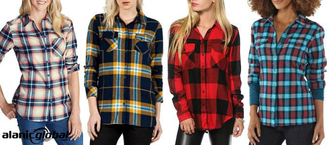 Womens Plaid Flannel Shirts