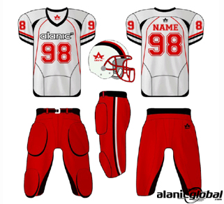 Majestic White and Red American Football Set
