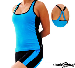 BLACK AND BLUE RUNNING WEAR