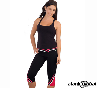 BLACK AND HOT PINK RUNNING WEAR