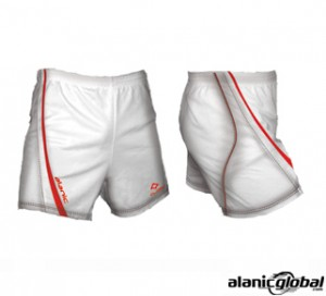 MICRO WHITE DESIGNER RUGBY SHORTS