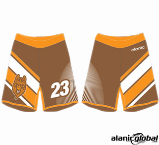 BALMY BROWN AND ORANGE SHORTS