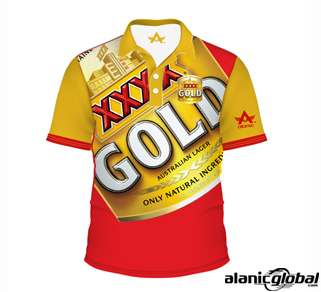 GORGEOUS GOLD AND RED PRIVATE LABEL SHIRT