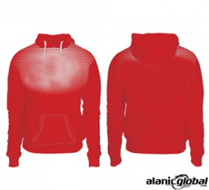 POPPY RED SUBLIMATED HOODIE