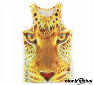 3D tiger print custom vest