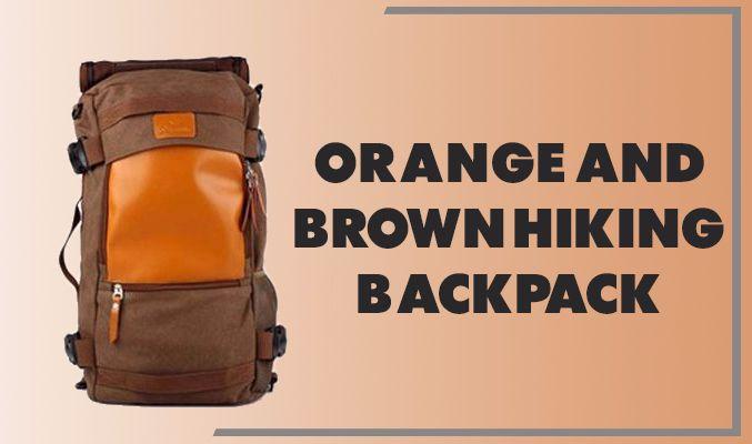 Orange and Brown Hiking Backpack