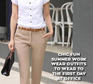 Summer Work Wear Outfits