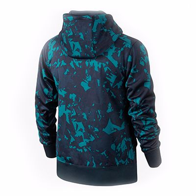 Black and Green Printed Custom Hooded Jacket Supplier