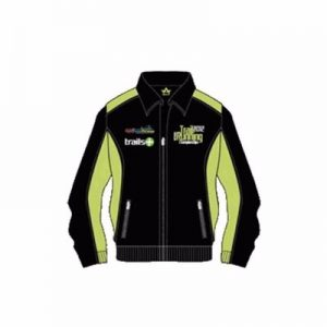 Black and Soft Green Running Jacket Supplier