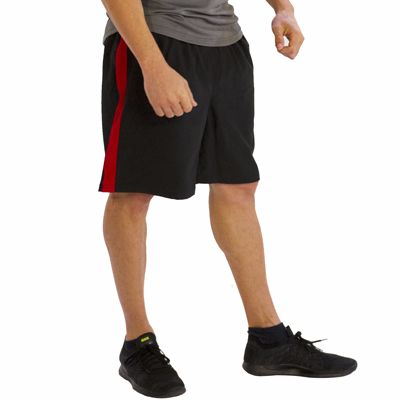 Black with Red Panel Fitness Shorts Manufacturer