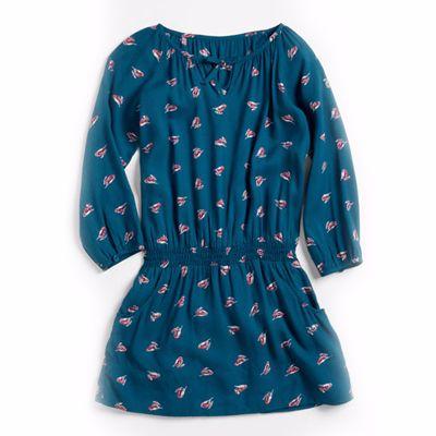 Blue Print Tunic Dress Top for Little Girls Manufacturer