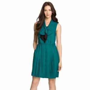 Bluish Green Sleeveless Dress for Women Wholesale