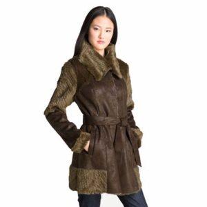 Brown Fur Coat for Women Supplier