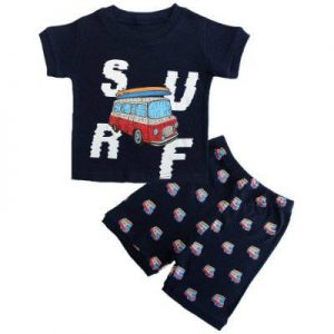 Cotton Car Printed Kids Clothing Set Supplier