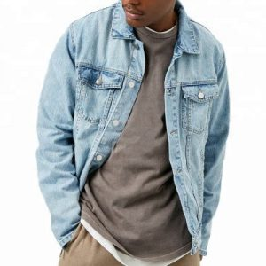 Cotton Vintage Long Sleeve Men Denim Jacket Distributor