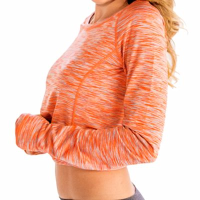 Flossy Orange Fitness T-Shirt Supplier