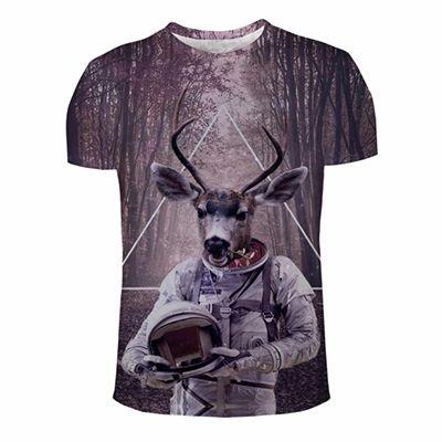 Funny Deer-Astronaut Printed Custom Tee Distributor