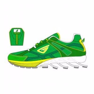 Green and White Fitness, Sports Running Shoes Supplier