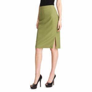 Greenish Yellow Pencil Skirt Manufacturer