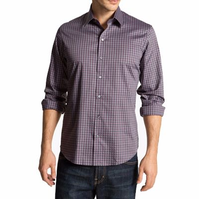 Grey and Maroon Check Shirt for Men Manufacturer