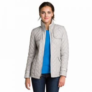 Grey Full Sleeves Quilted Jacket Manufacturer