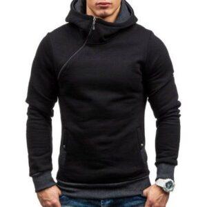Wholesale High Quality Mens Slim Fit Black Hoodie
