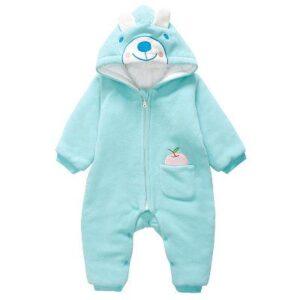 Wholesale Infant Sleepwear Baby Hooded Jumpsuit