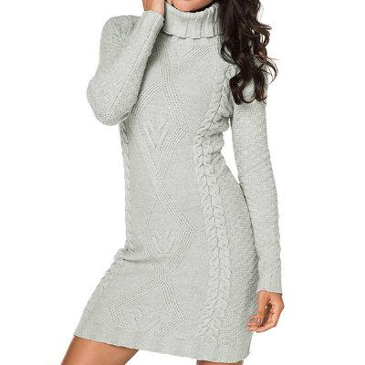 Wholesale Ladies Knit Pattern Turtleneck Sweater