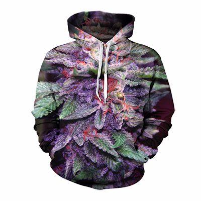 Leaf Printed Colorful Custom Hooded Jacket Manufacturer