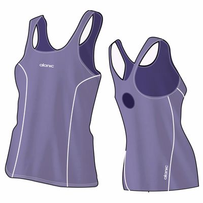 Lilac Designer Women's Bodycon Fitness Singlet Manufacturer
