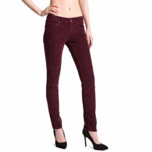 Maroon Ankle Length Slim Fit Jeans Manufacturer