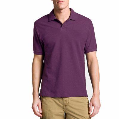 Wholesale Men's Fashionable Purple Polo T-Shirt