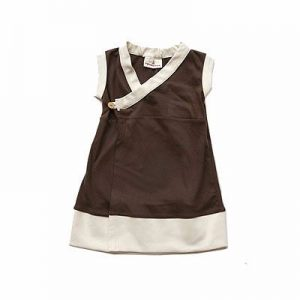 New Born Baby Chocolate Brown and White Dress Supplier