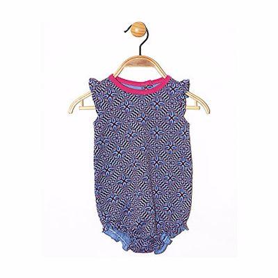 New Born Baby Girl Blue Print Onesie Manufacturer