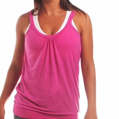 Wholesale Pink Soft Tuck Fitness Dance Top
