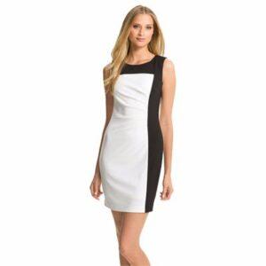 Sassy Colour Block Sleeveless Dress Manufacturer