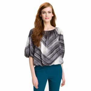 Snazzy Abstract Printed Top for Women Wholesale