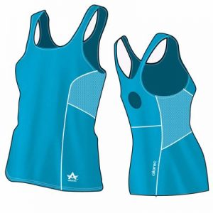 Super Blue Women's Fitness Bodycon Singlet Supplier