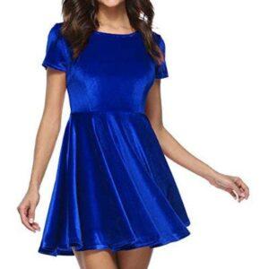 Women Party Winter Velvet Dress Supplier